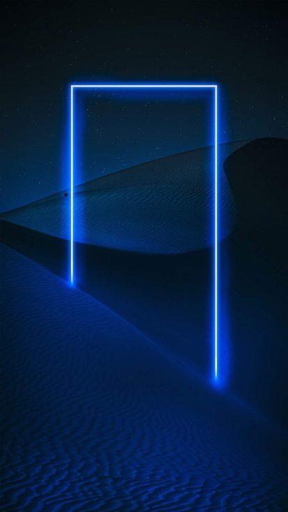 Neon Desert iPhone Wallpaper