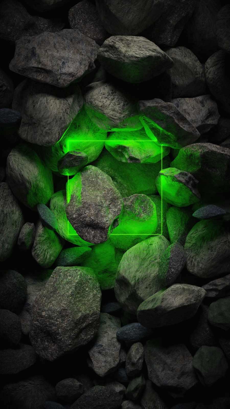 Neon Green Stone Light