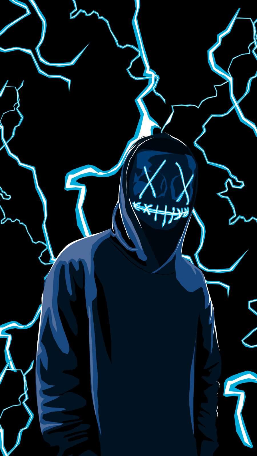 Neon Mask Guy Art