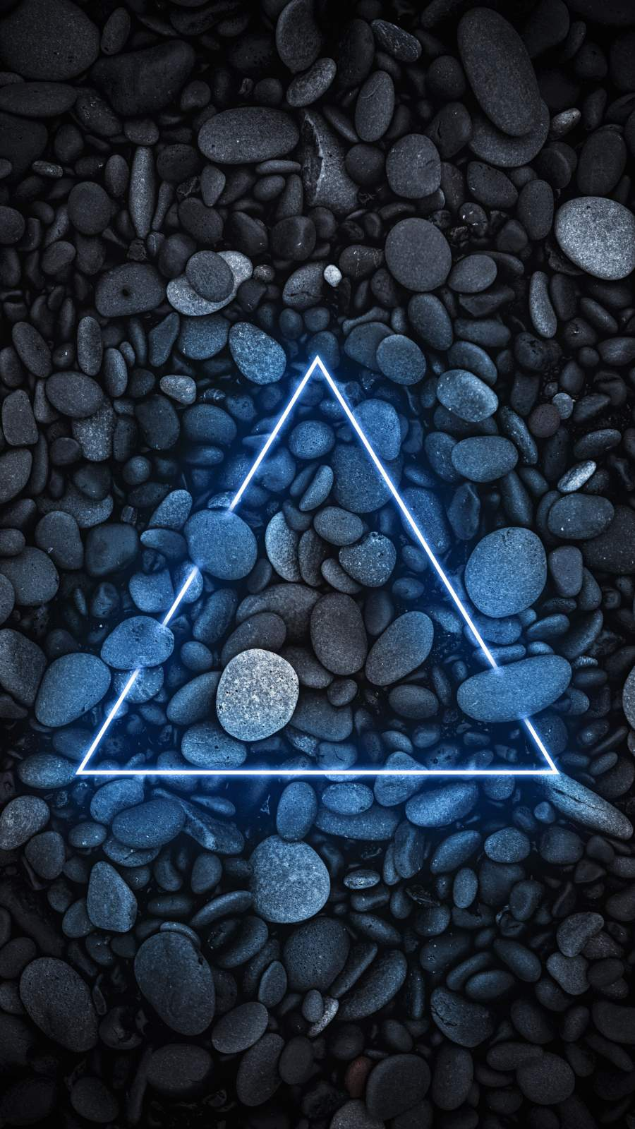 Neon Stone Triangle Art