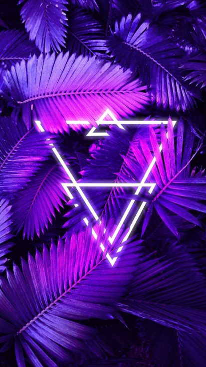 Neon Triangle Forest