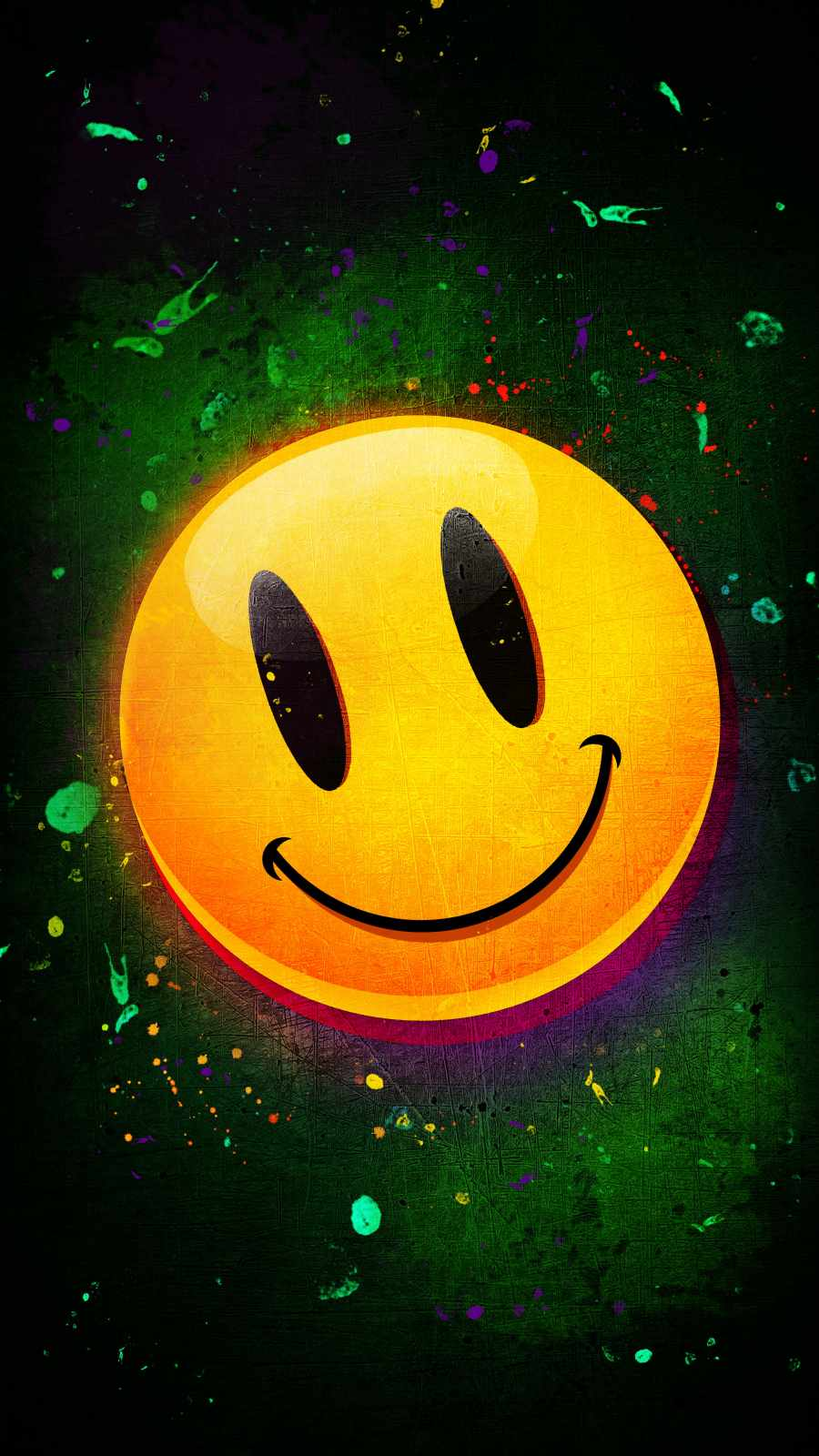 Smile Face iPhone Wallpaper