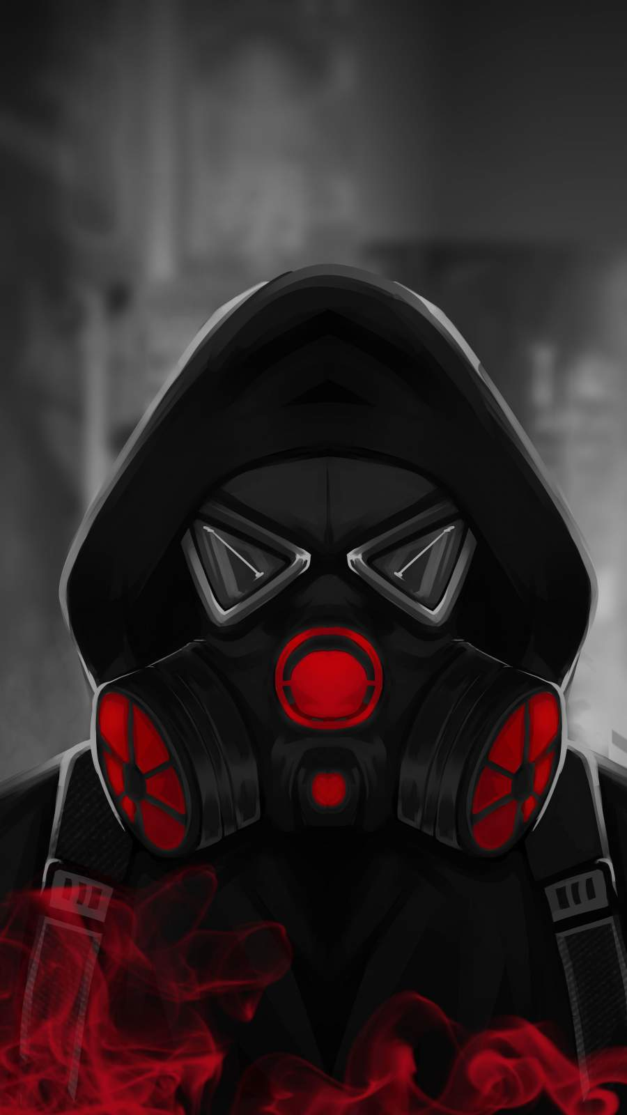 Smoke Mask Hoodie Guy