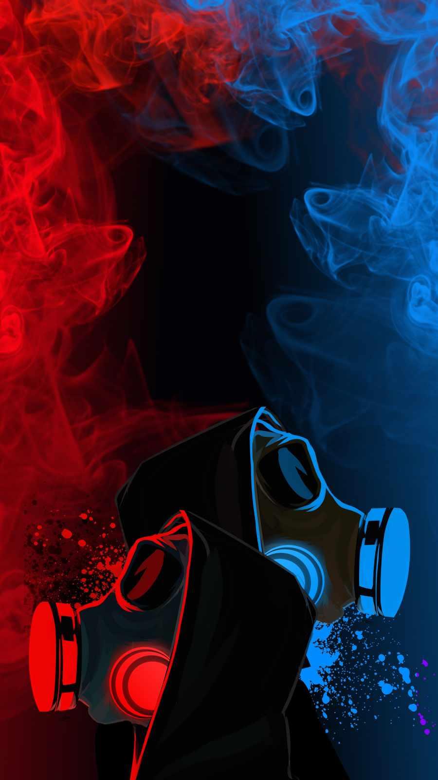 Smoke Neon Mask
