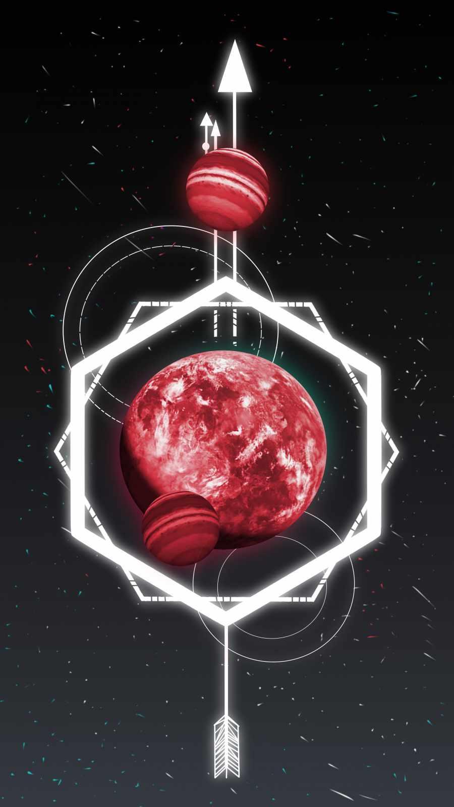 Space Geometry iPhone Wallpaper