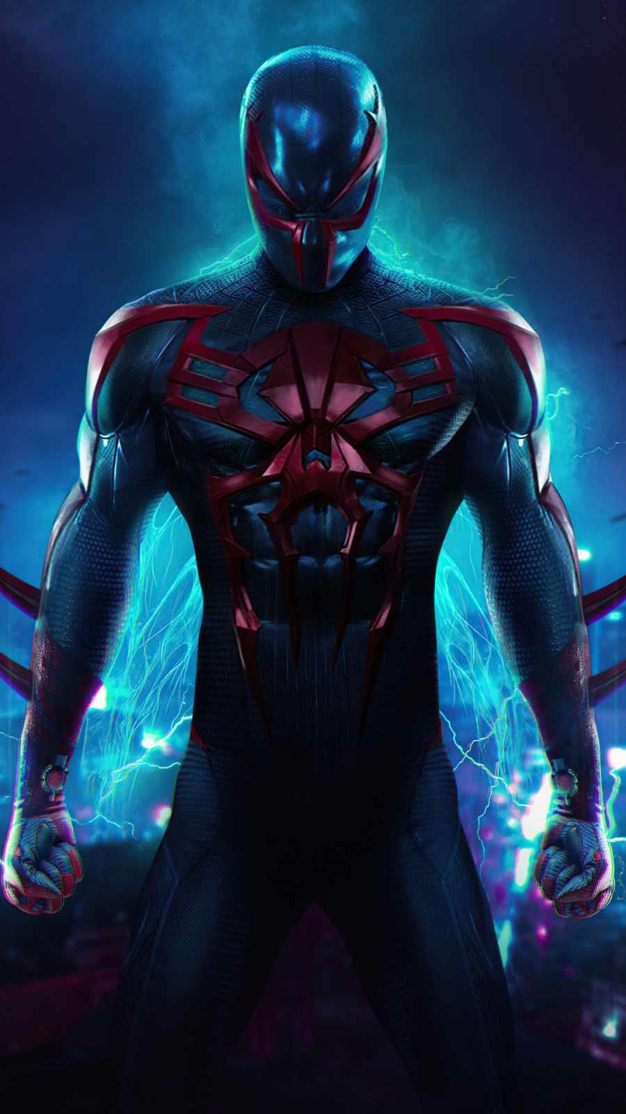 Spider Man 2099 iPhone Wallpaper