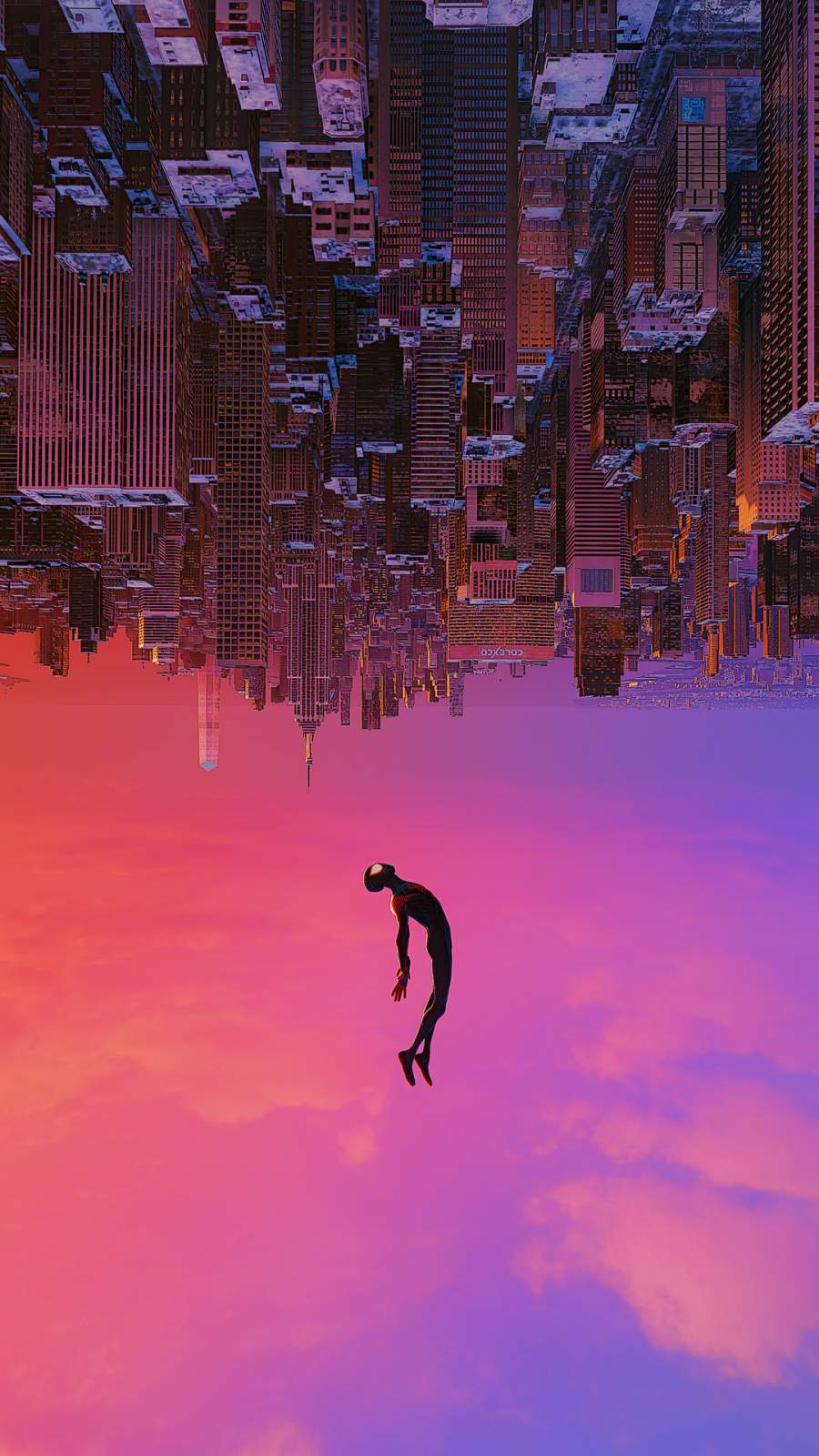 Spiderman Fall iPhone Wallpaper