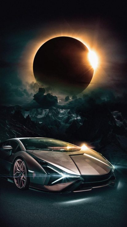 Sportscar Eclipse iPhone Wallpaper
