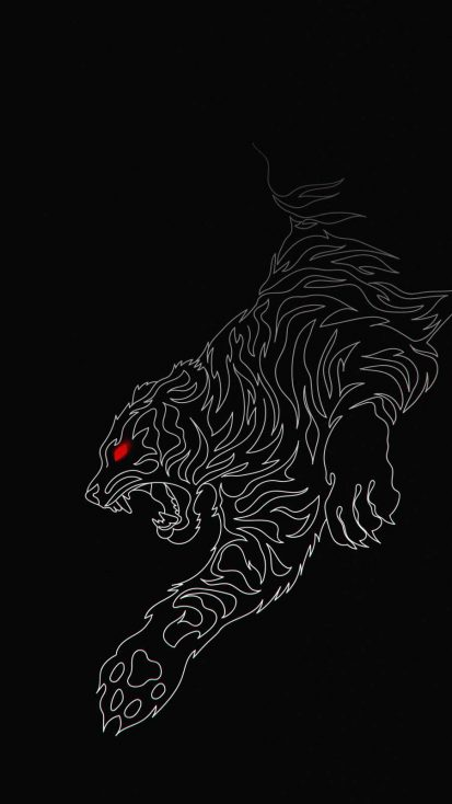 Tiger Dark iPhone Wallpaper