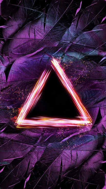 Triangle Light Art iPhone Wallpaper