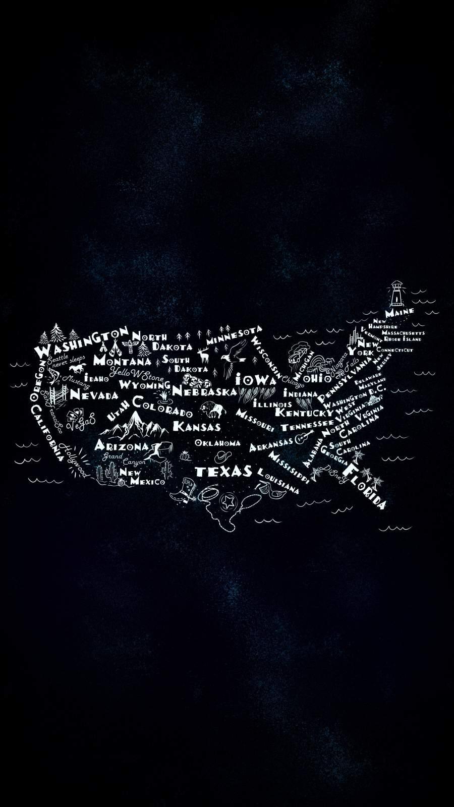 USA States iPhone Wallpaper