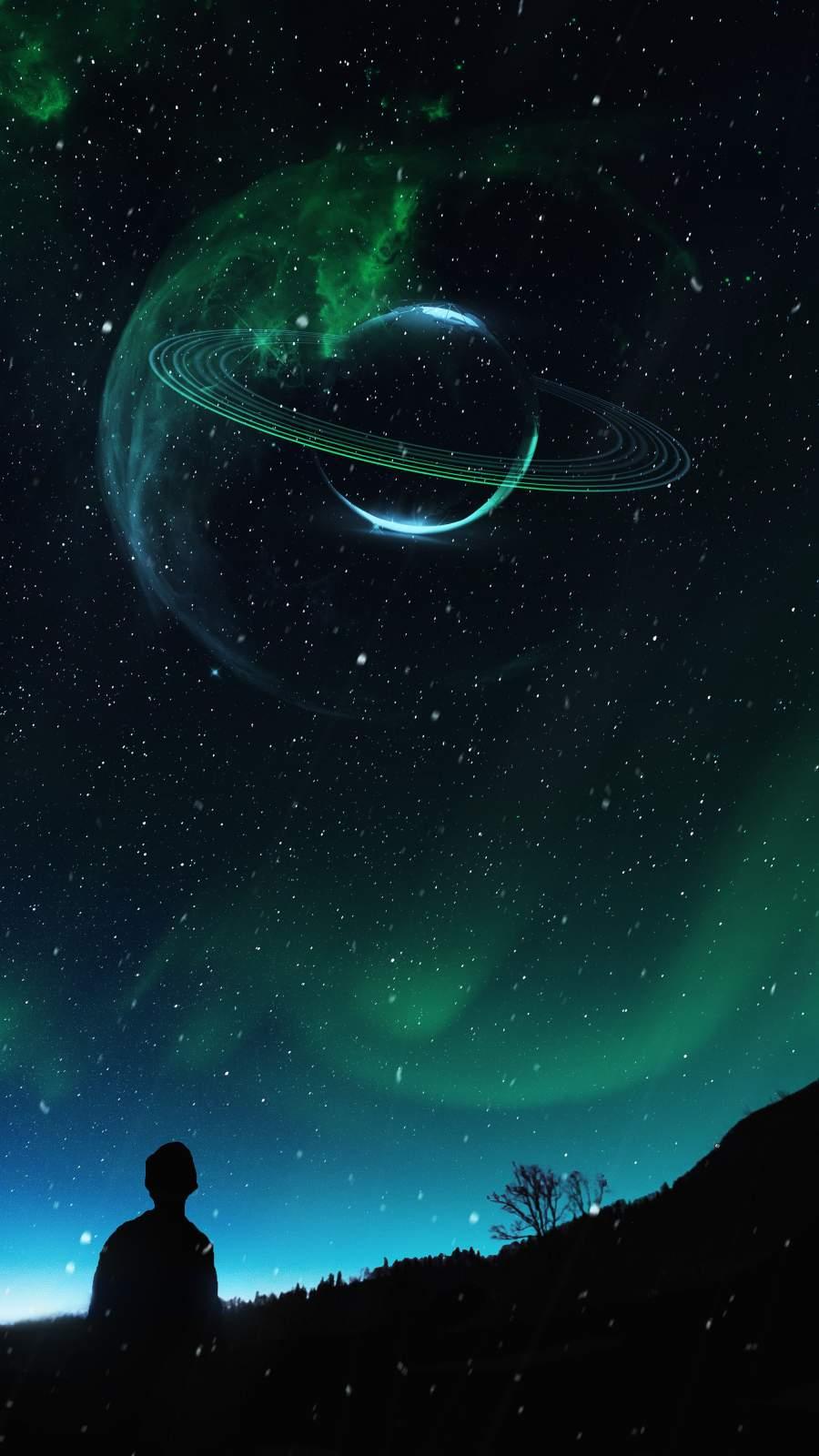 Watching Stars iPhone Wallpaper