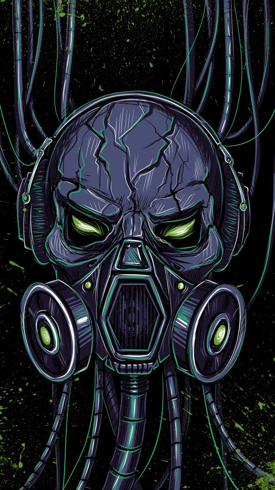 Alien Mask iPhone Wallpaper