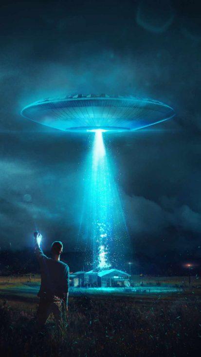 Aliens Encounter iPhone Wallpaper