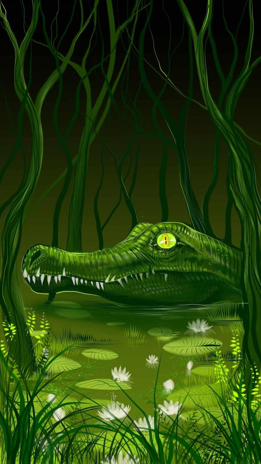 Alligator iPhone Wallpaper
