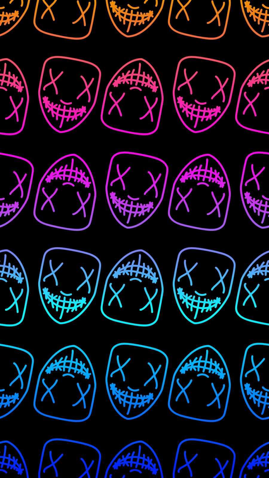 Amoled Neon Masks