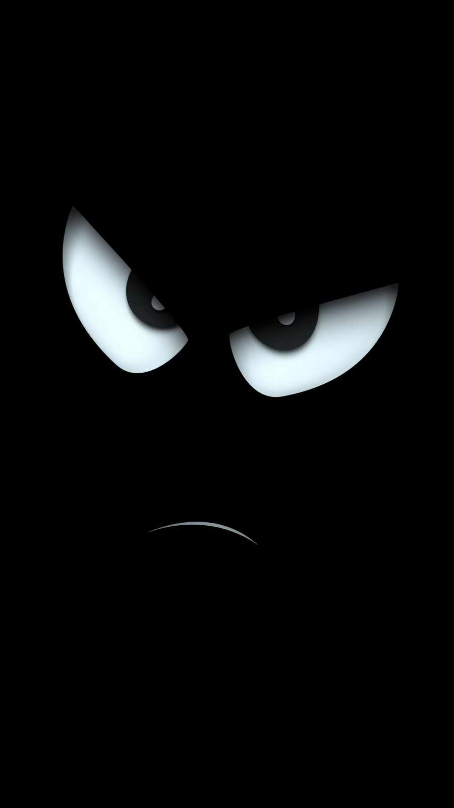 Angry Face iPhone Wallpaper