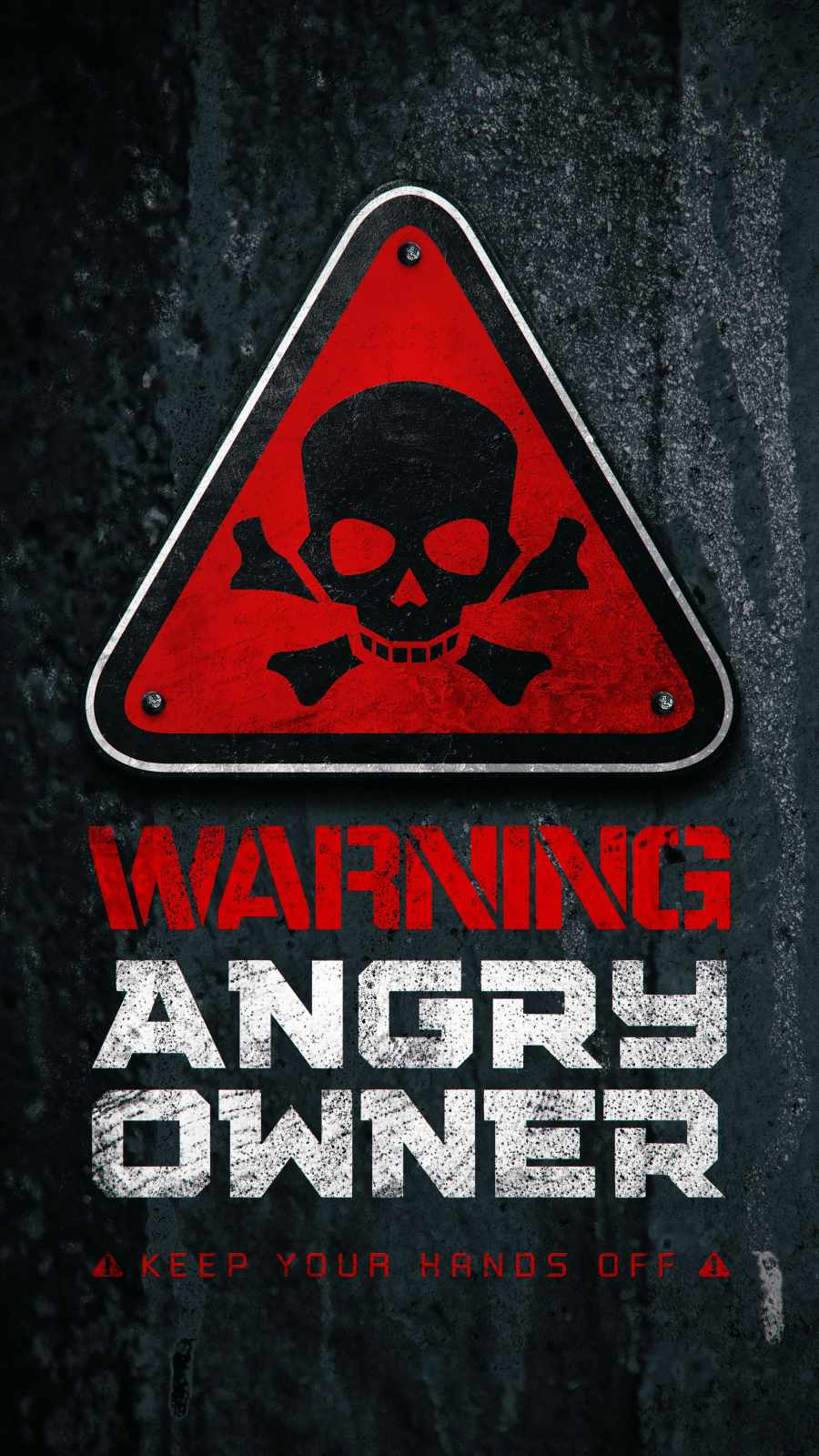 Angry Owner iPhone Wallpaper