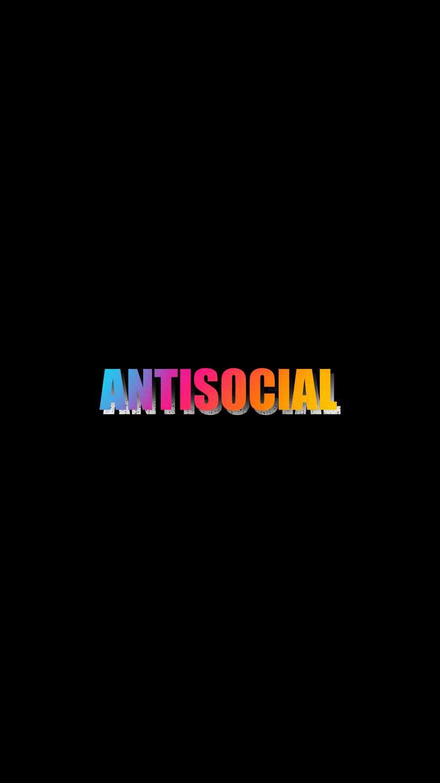 Antisocial iPhone Wallpaper