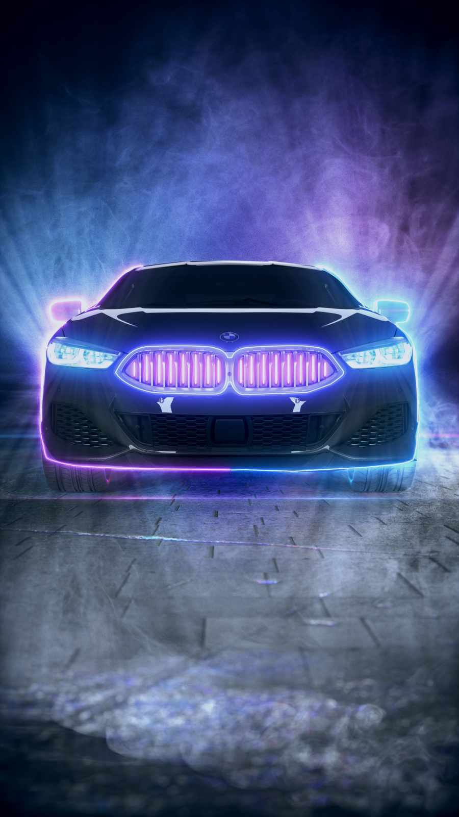 BMW Neon iPhone Wallpaper
