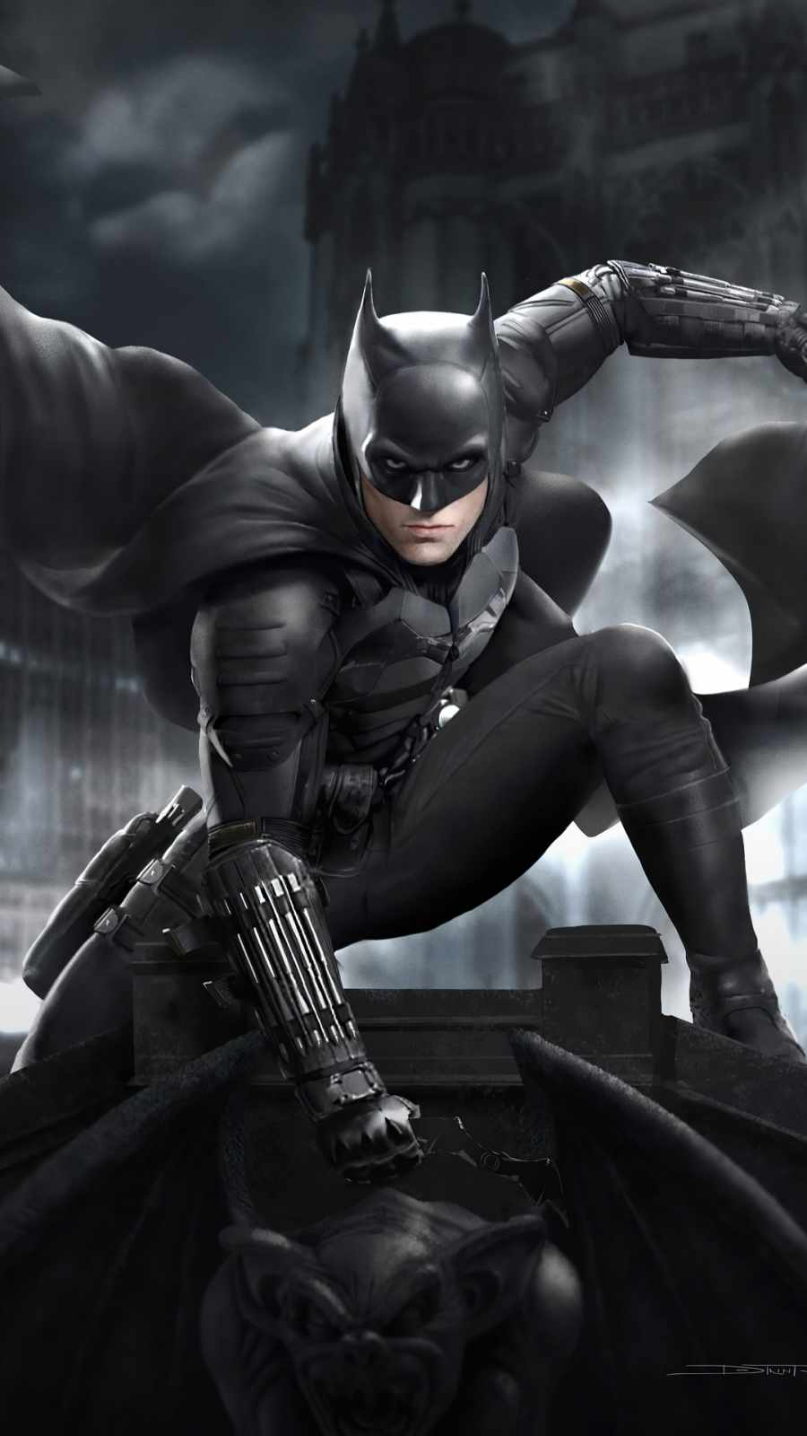 Batman Battinson iPhone Wallpaper