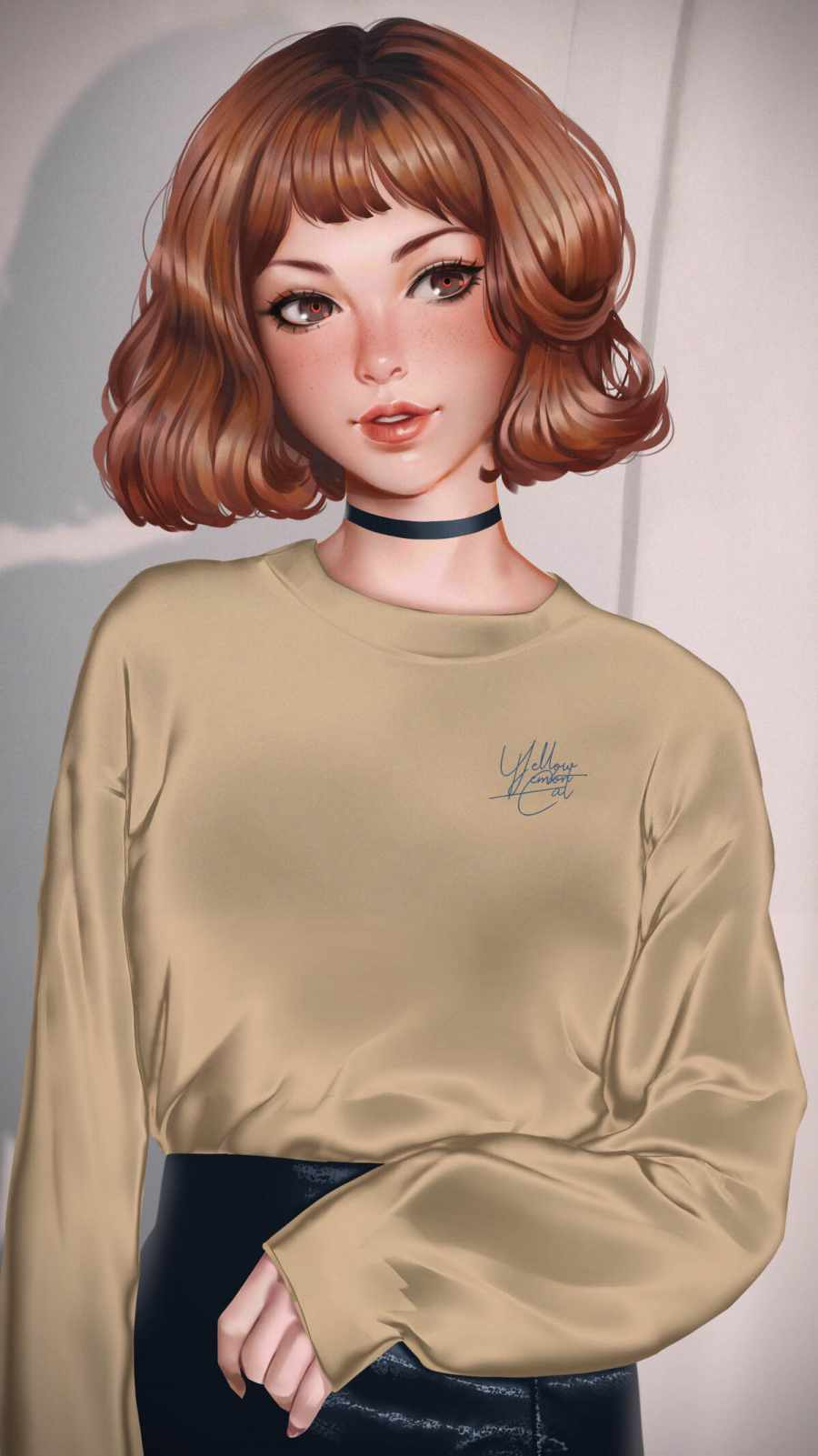 Beautiful Brunette Girl iPhone Wallpaper