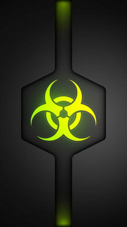 Bio Hazard iPhone Wallpaper