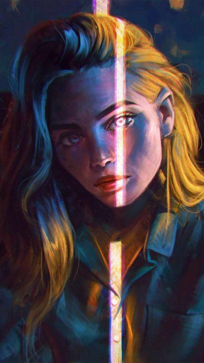 Blonde Girl Sunlight iPhone Wallpaper