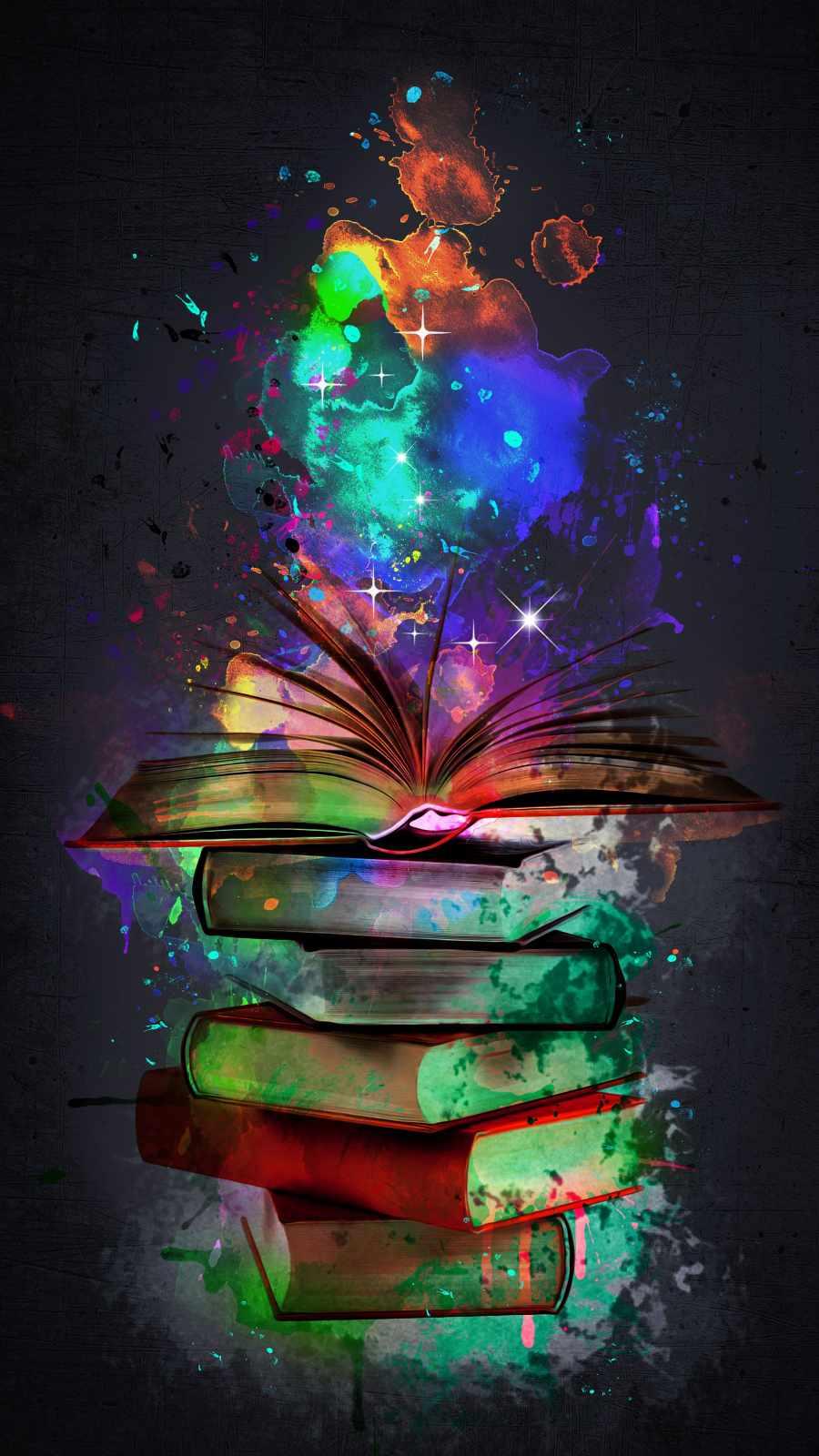 Books Art iPhone Wallpaper