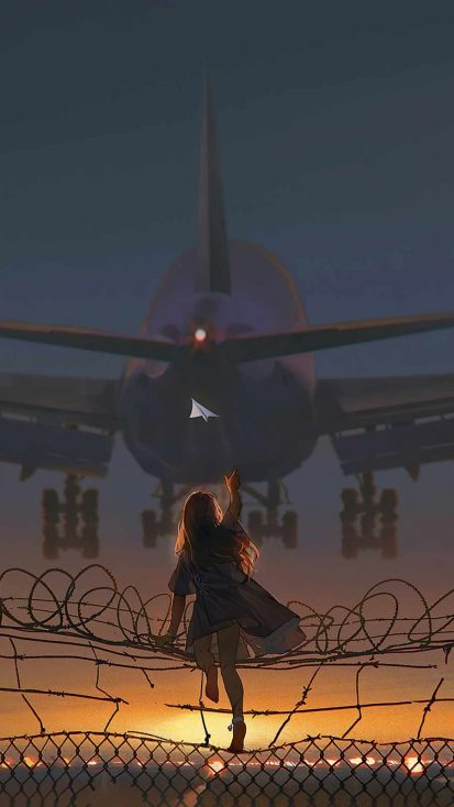 Catching the Flight iPhone Wallpaper