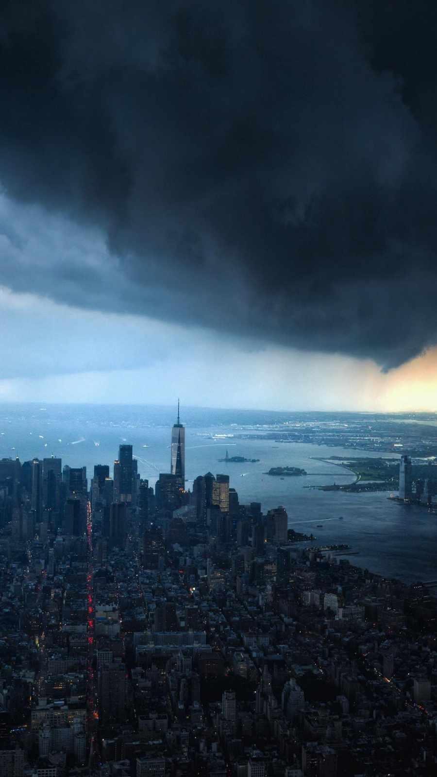 Cloudy New York City