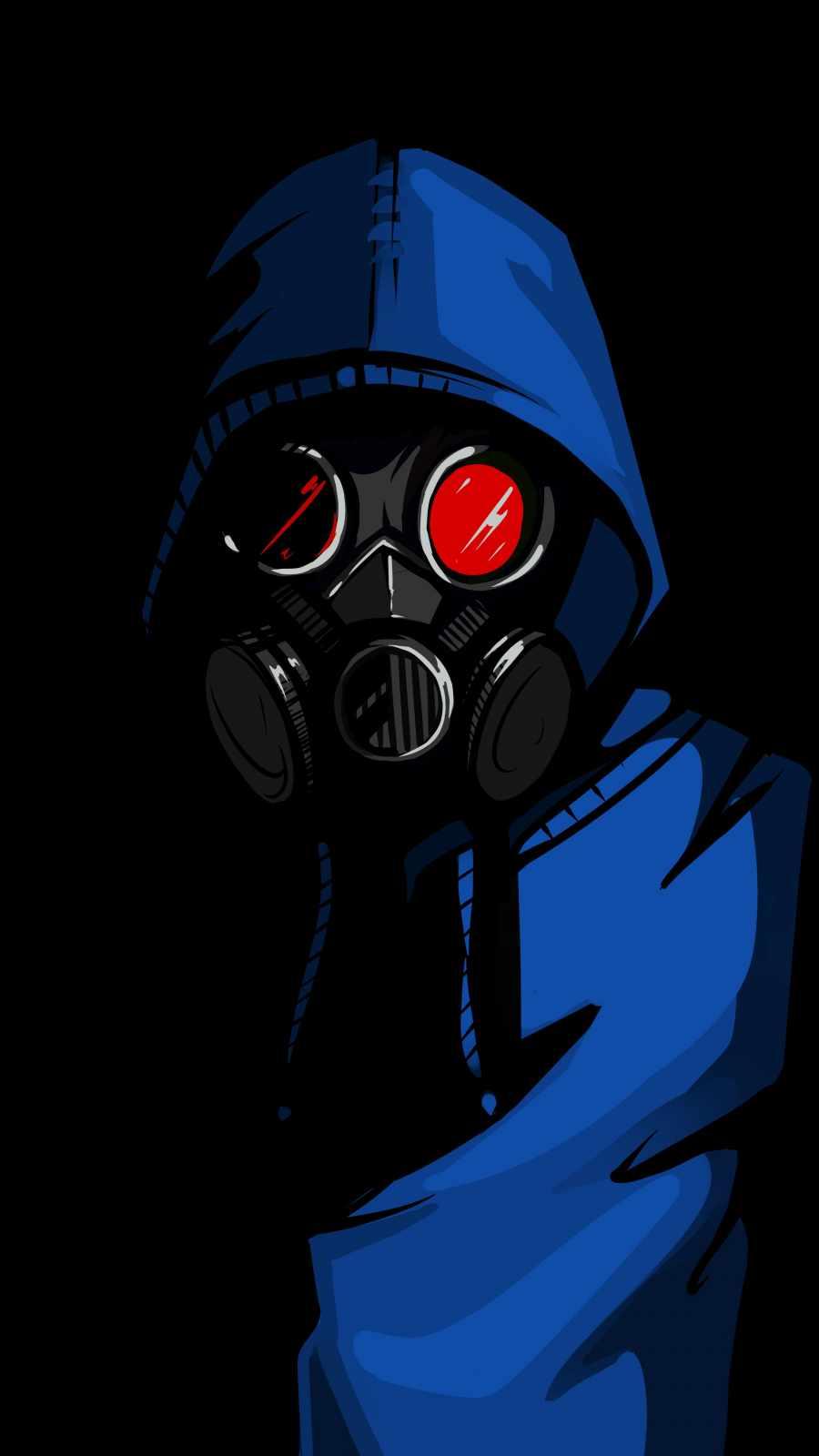 Dark Hoodie Gas Mask