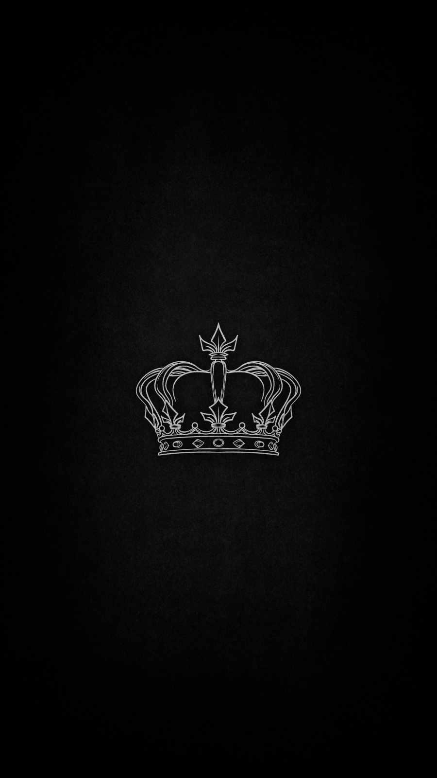 Dark King Crown iPhone Wallpaper