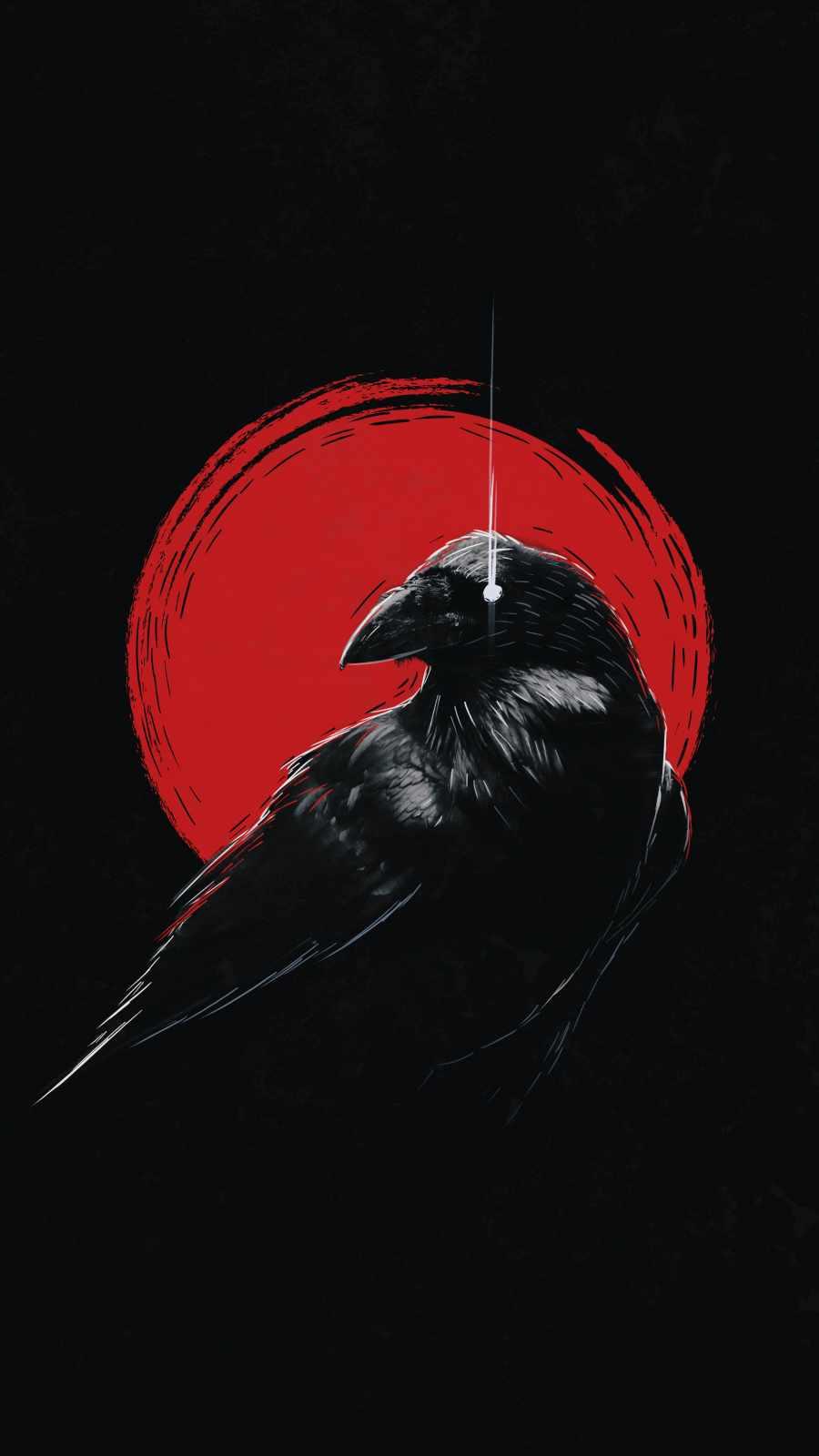 Dark Raven iPhone Wallpaper