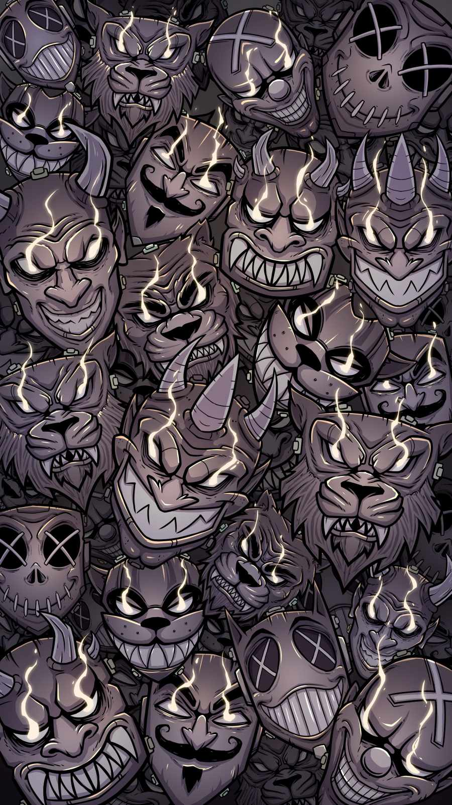 Devil Faces iPhone Wallpaper