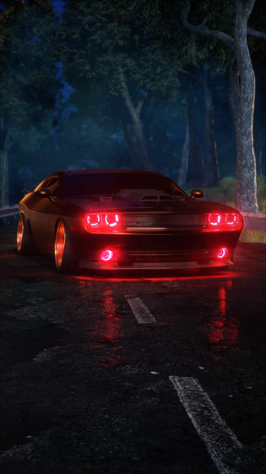 Dodge Challenger Demon Lights