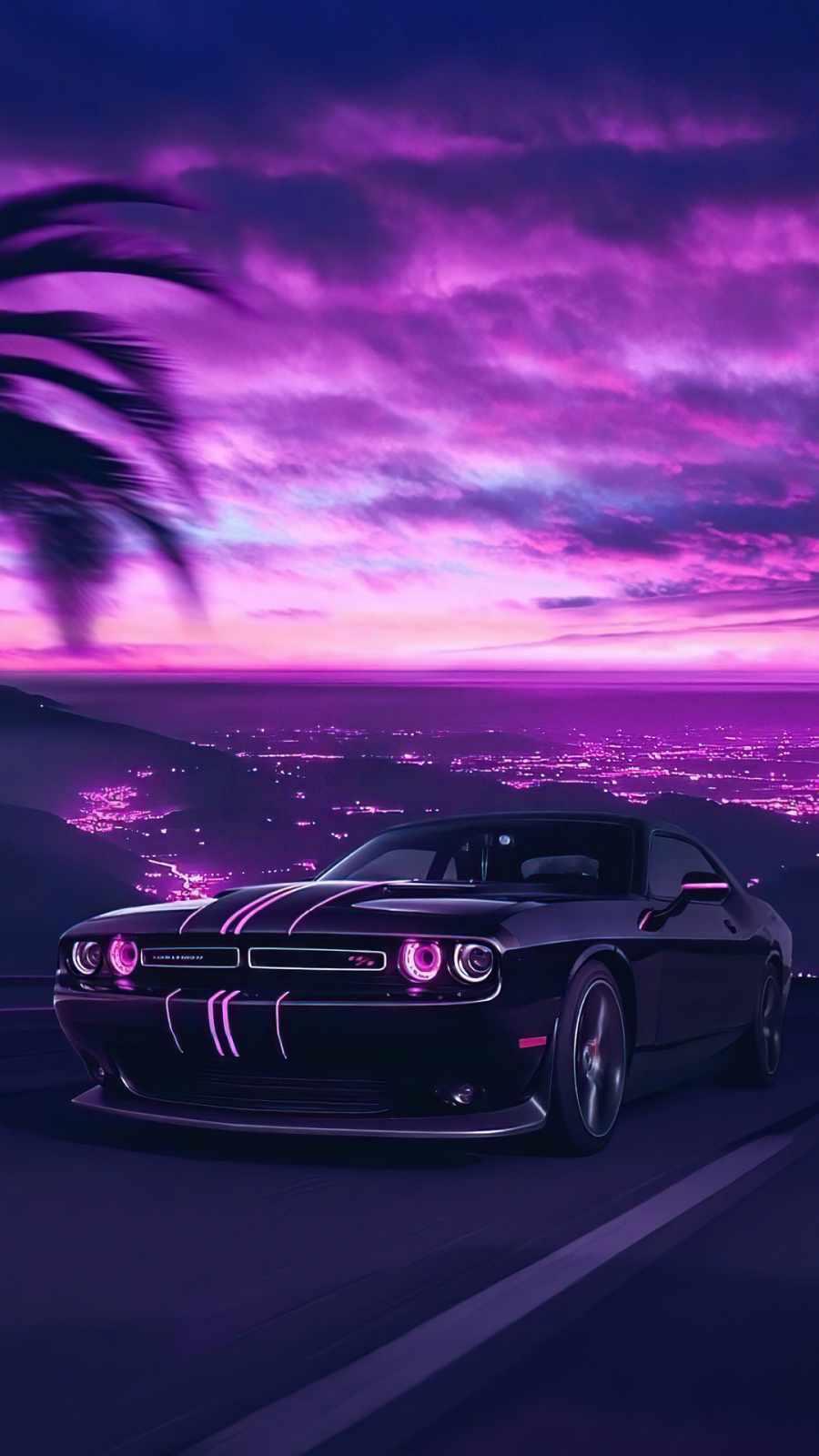 Dodge Challenger Vaporwave