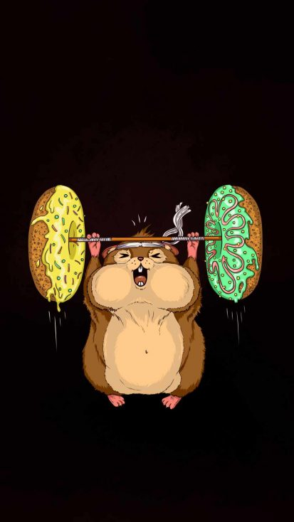Donut Gym iPhone Wallpaper