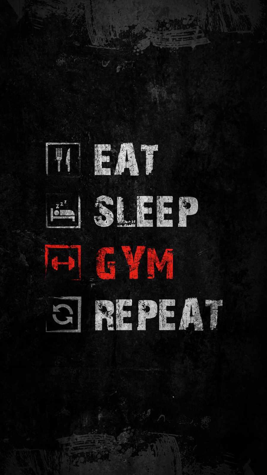 Eat Sleep Gym Repeat 1