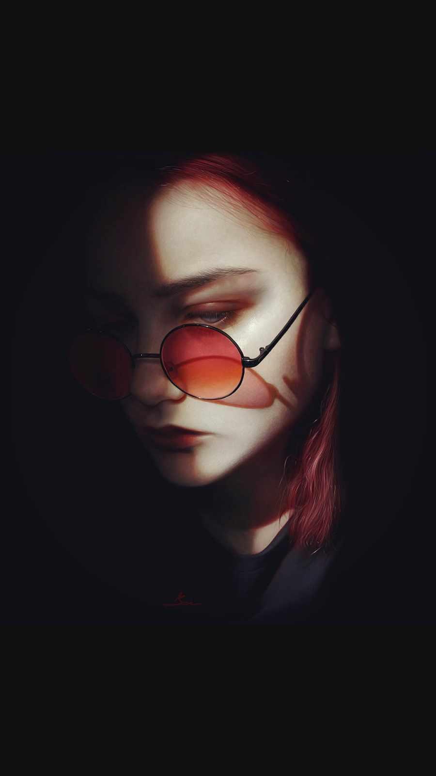 Girl in Dark iPhone Wallpaper