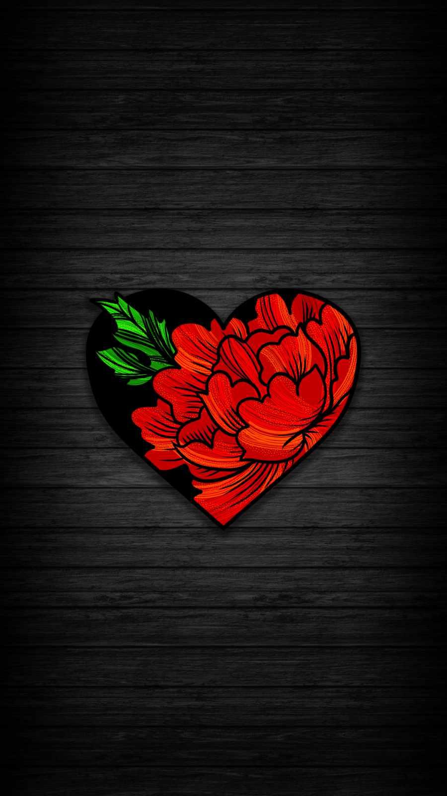 Heart Rose iPhone Wallpaper