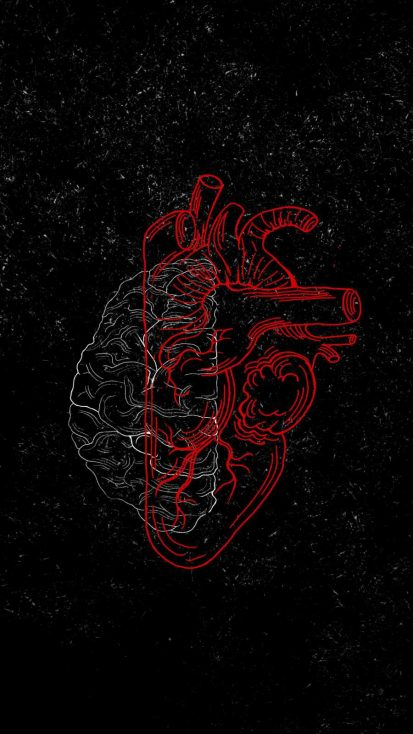 Heart vs Brain Wallpaper