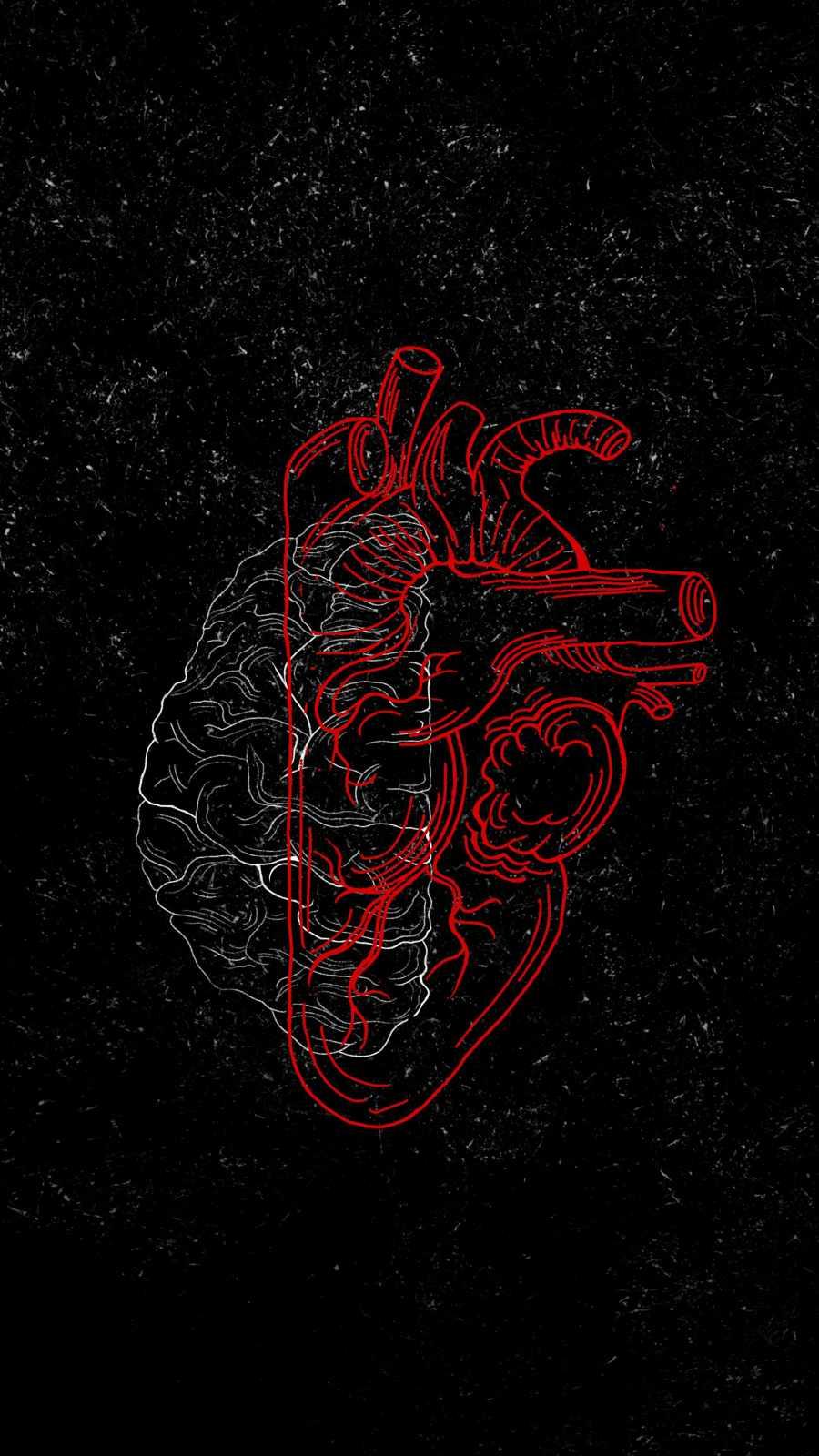 Heart vs Brain Wallpaper