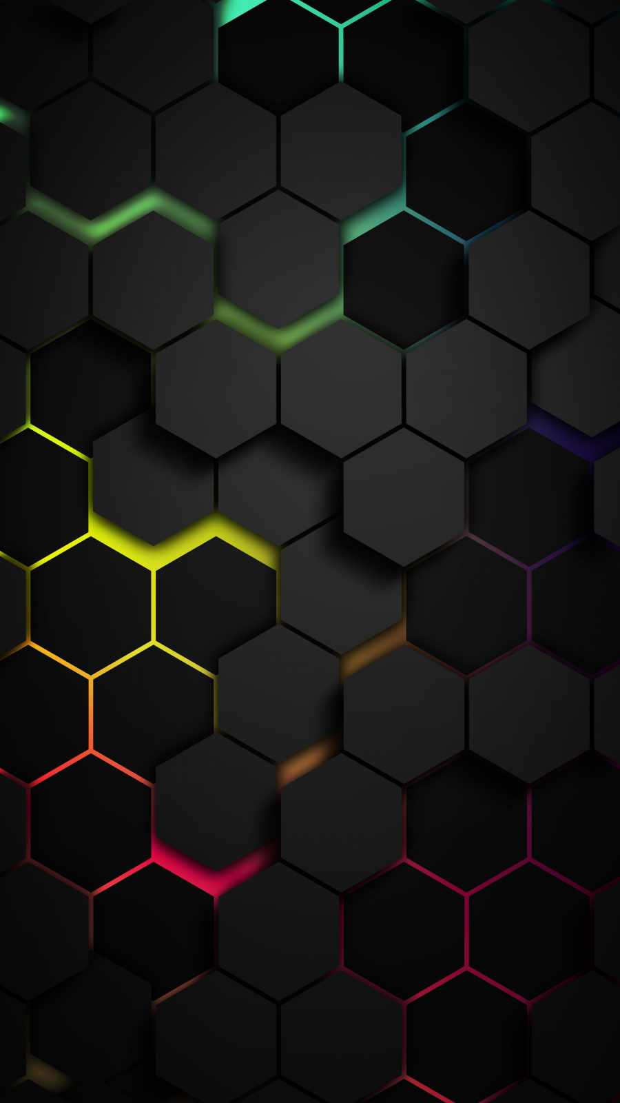 Hexagon Colors iPhone Wallpaper