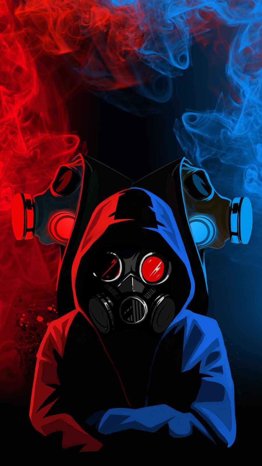 Hoodie Gas Mask People