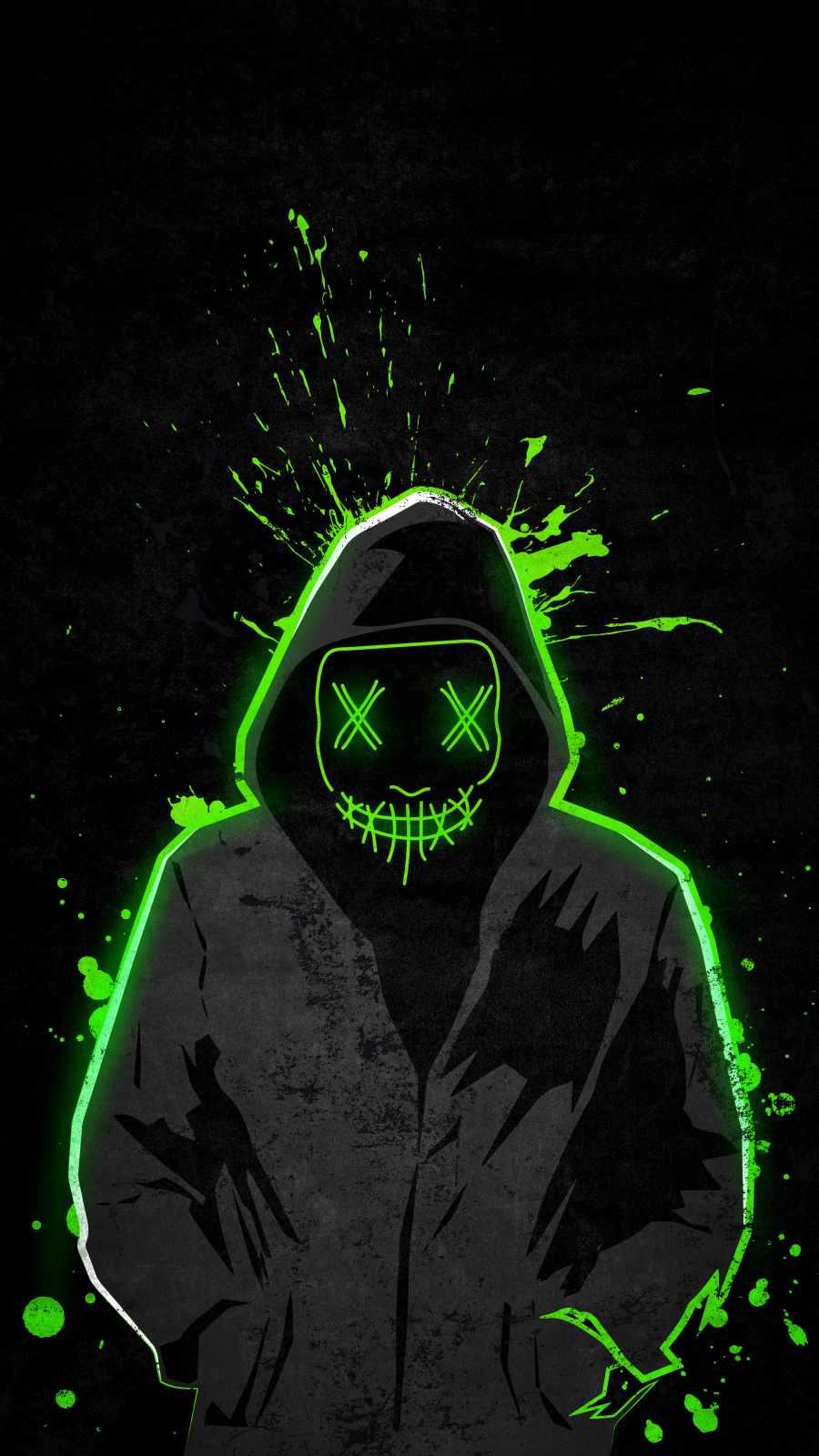 Hoodie Guy Green Neon