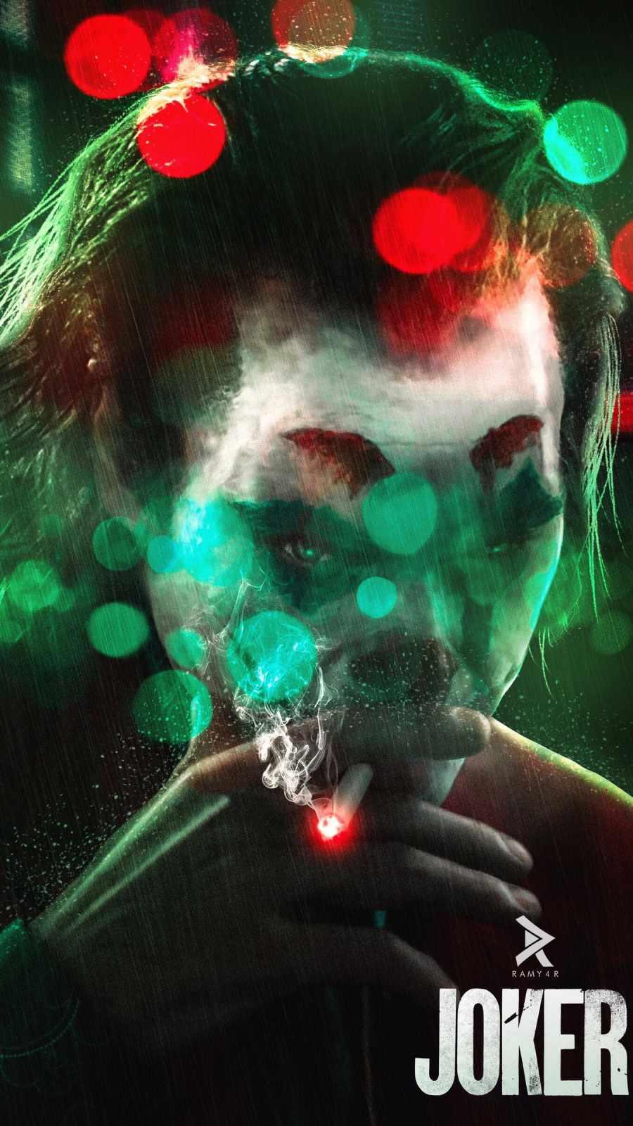 Joker Smoke iPhone Wallpaper