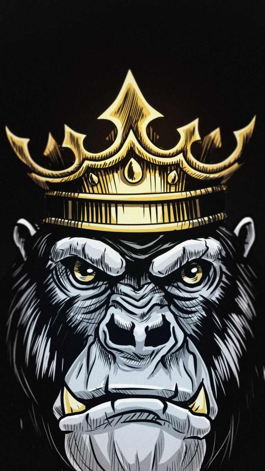 King Gorilla iPhone Wallpaper