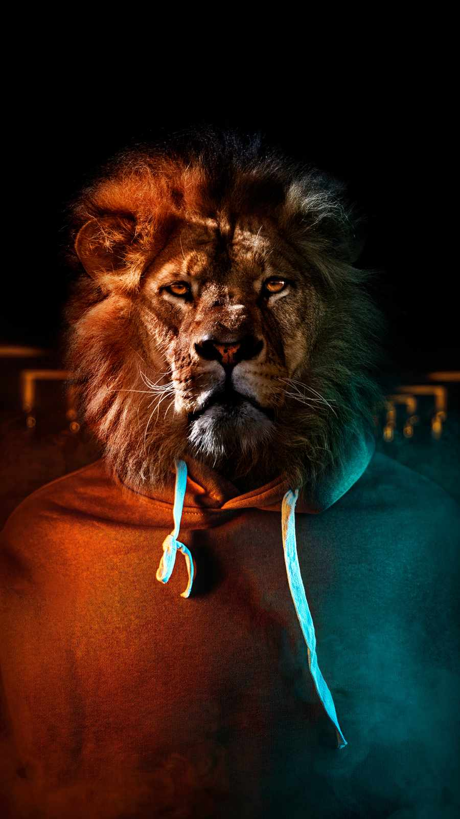 Lion Face Man iPhone Wallpaper