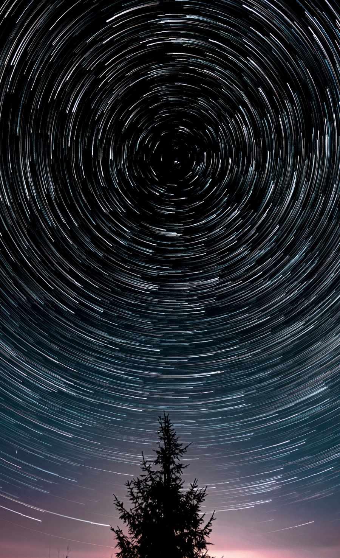 Long Exposure Spiral Stars